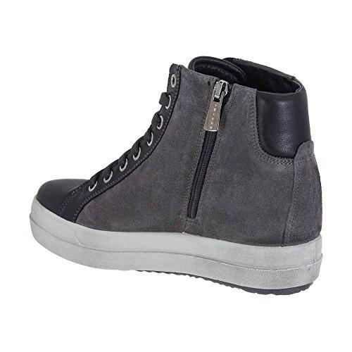 IGI&CO Sneaker Alta Donna Grigia in Camoscio