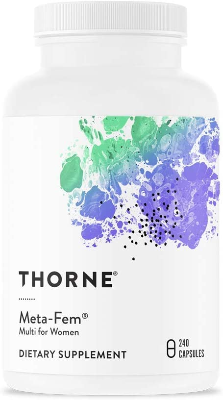 Thorne Research – Meta-Fem – Complete Dietary Supplement for Women of Either Peri- or Postmenopausal Age -240 Capsules