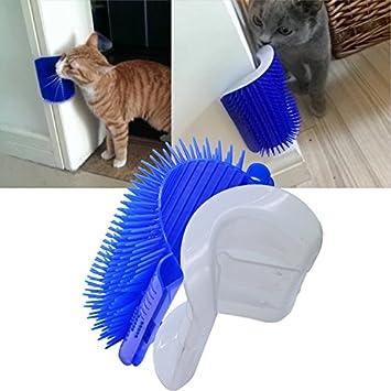 lnsky2018 Cepillo de aseo para gatos con gato, esquina para gatos, cepillo de masaje