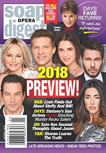 Read Online Soap Opera Digest Magazine - January 1, 2018 - 2018 Preview Issue - Tyler Christopher - Sharon Case - Steve Burton - Kelly Monaco - Scott Clifton - Jacqueline MacInnes Wood ebook