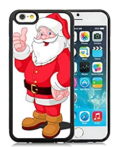 Customized Design iPhone 6 Case,Santa Claus Black iPhone 6 4.7 Inch TPU Case 23