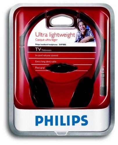 Philips Shp180000 Indoor Corded Tv Headphones Black Amazoncouk