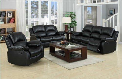 Yuan Tai Kaden Black Bonded Leather Sofa - a good cheap living room sofa