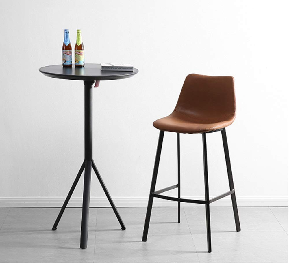 AO-stools Nordic Leisure High Stool Cafe Back Metal Bar Chair Home Restaurant Dining Chair 99x75x43cm by AO (Image #3)