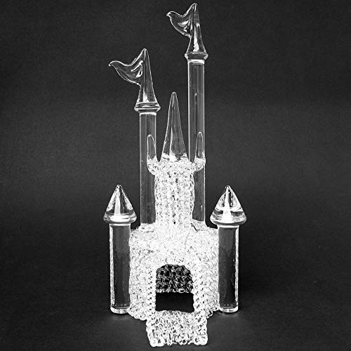 Castle Wedding Cake Topper of Hand Blown Glass ()