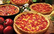 "Ship Lou Malnati's legendary Chicago-style deep dish pizzas. Each pizza is hand-made from scratch with mozzarella cheese, vine ripened plum tomatoes, and fresh toppings layered upon a flaky, buttery crust. Each pizza is 9"" and serves two adults."