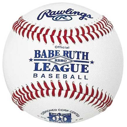 Babe Ruth League Raised Seam Youth Baseballs For Tournament Play from Rawlings - (One Dozen) by Rawlings