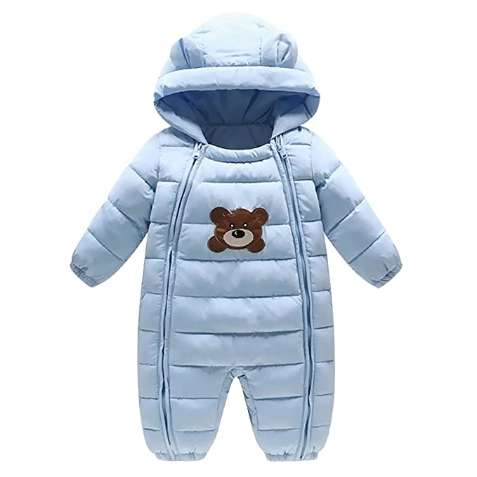 be4ac51f0 Ladysen Toddler Snowsuit Jumpsuit Outerwear Romper Hoodie Cartoon ...
