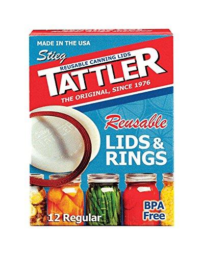 Tattler Reusable Regular Size Canning Lids 12 count - 2 Pack (Total 24 Lids)