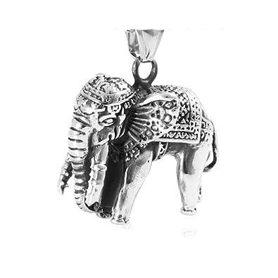 Edelstahl Halskette mit Baby Elefant silber