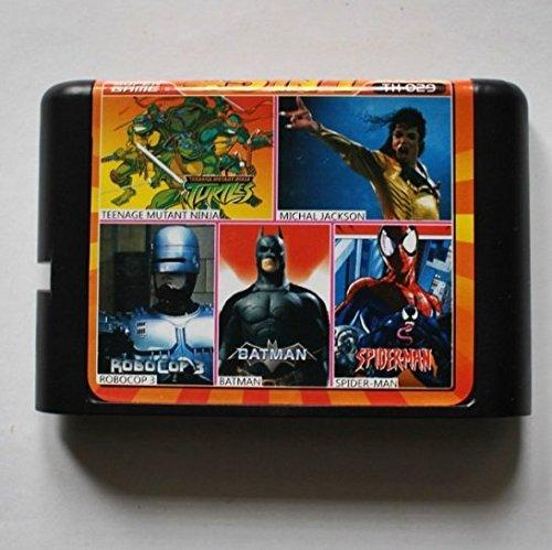 Taka Co 16 Bit Sega MD Game Turtles/ Moonwalker/ Robocop 3/ Batman / Spiderman 16 bit MD Game Card For Sega 16bit Game Player