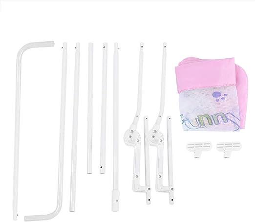 Barreras Cama, 150cm Cama plegable Guardia de Ni?o Riel de Seguridad Riel de Cama Individual Transpirable (Rosa)