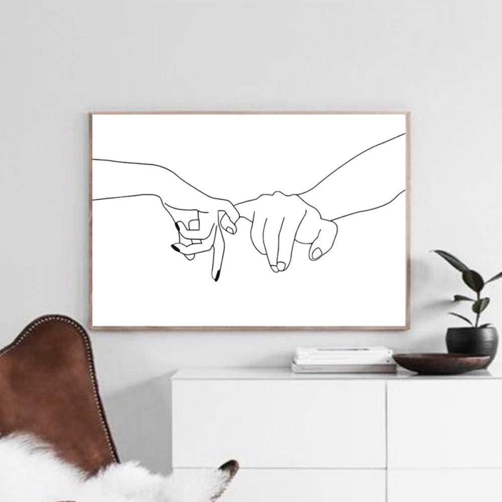 40x60cm MMLUCK Decorative Paintings Art Love Print Bedroom Decor Art n Couple Poster Minimalist Wall Art line Drawing Canvas paintingChristmas Present