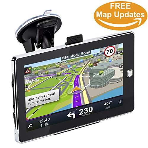 GPS Navigation for Car, 7 inch 8GB Professional Navigator System,Car GPS Spoken Turn- to-turn Traffic Alert Vehicle GPS Navigator, Lifetime Map Updates by MYH-Mart