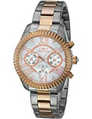 Invicta Womens Angel Quartz Stainless Steel Casual Watch, Color:Silver-Toned (Model: 21426)