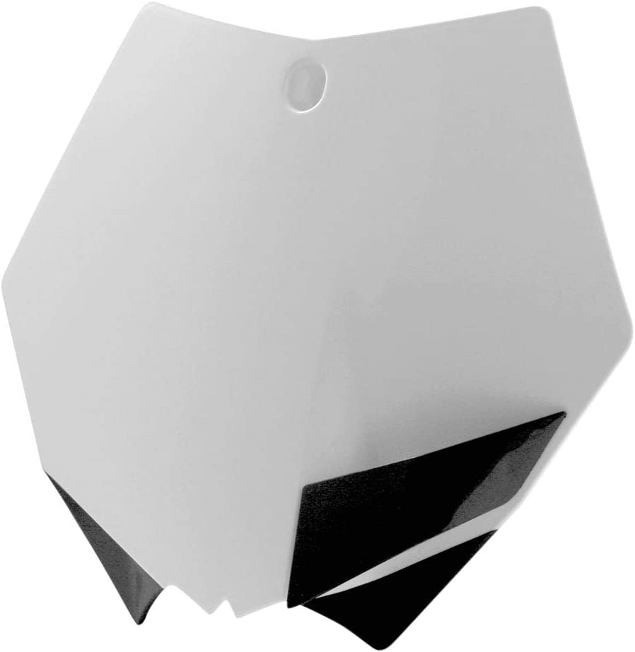 2008-2012 E-Start Fits: KTM 250 XC-W Acerbis Front Number Plate White