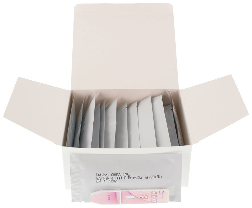 Pregnancy Test Dip Cards - 25 Count Medical Dimensions