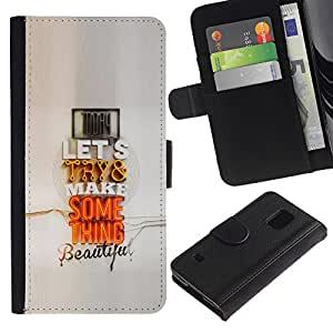 KingStore / Leather Etui en cuir / Samsung Galaxy S5 V SM-G900 / Pareja moderno Cita regalo Arte Pop Amor
