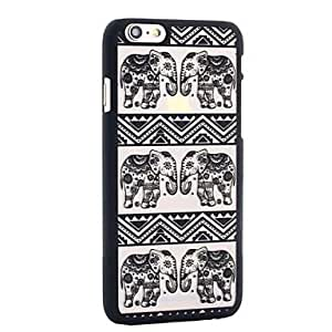 YULIN Henna White Floral Paisley Flower Mandala Plastic Case for Iphone6 plus , White