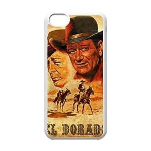 Alta resolución Z3O07 El Dorado Poster funda iPhone C5F8MT funda caso 5c teléfono celular cubren IK5QYX4QE blanco