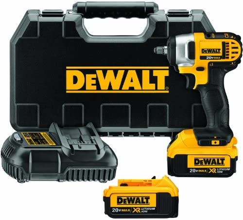 DEWALT 20V MAX Cordless Impact Wrench Kit with Hog Ring, 3 8-Inch DCF883M2