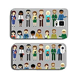 Big set of business people. vector cell phone cover case iPhone5