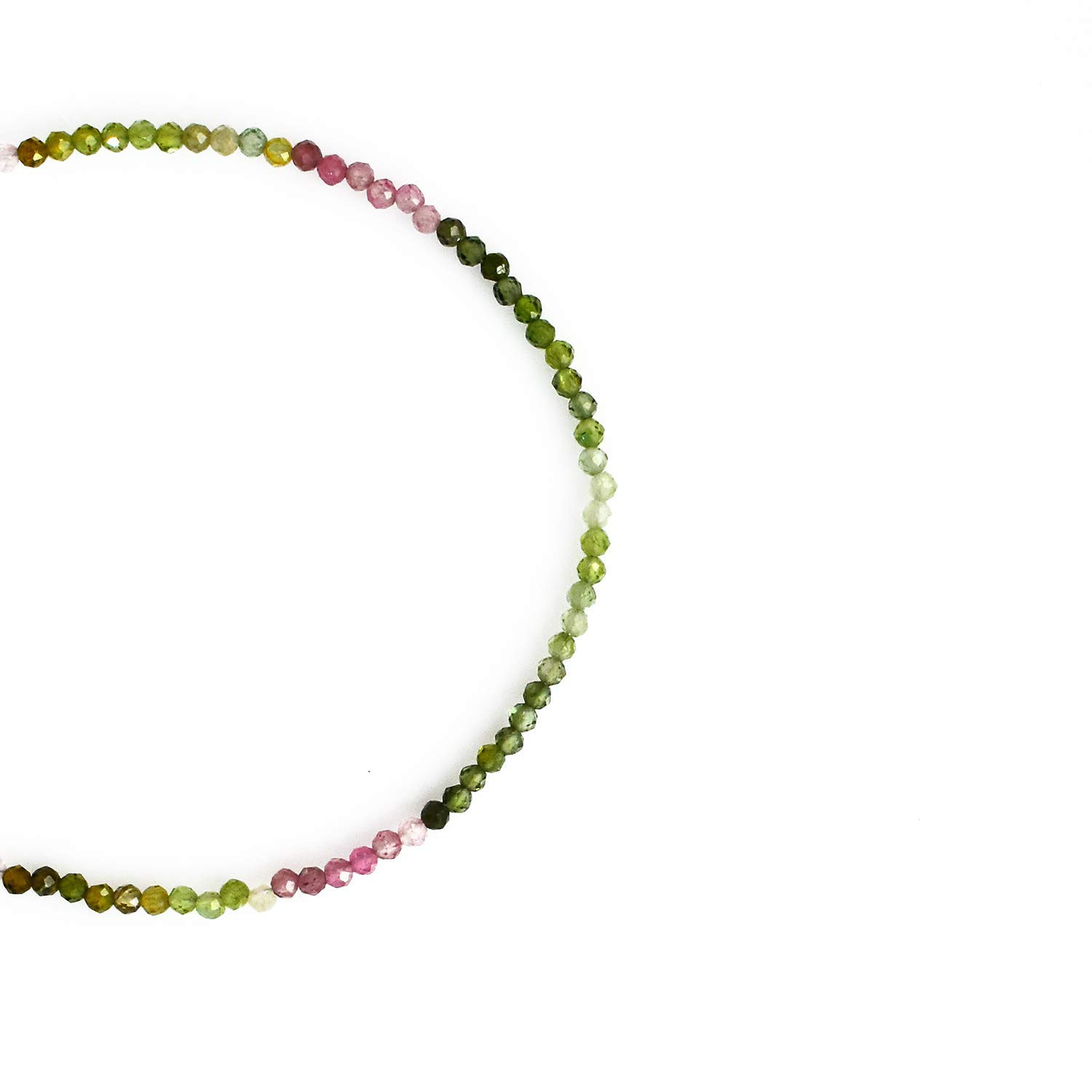 Birthday Energy Healing Crystals Faceted Beads Gift for Her Gemstone Jewelry 8 inch AAA+ Quality Gempires Natural Multi Tourmaline Beads Bracelet