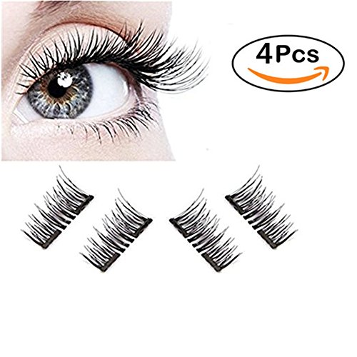3da9695e750 Piccul Magnetic False Eyelashes, 3D Black Dual Magnetic, Ultra Thick Ultra  Solf And Long for Entire Eyes, Glamorous, Natural Look, Handmade Reusable  ...