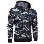 manadlian Veste Homme,Sweats à Capuche Hommes Camouflage Hoodie Sweat à Capuche Tops Veste Manteau Outwear À Manches… 7
