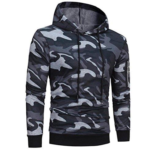 manadlian Veste Homme,Sweats à Capuche Hommes Camouflage Hoodie Sweat à Capuche Tops Veste Manteau Outwear À Manches… 2