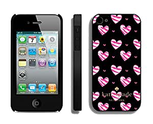 Customize iPhone 4s Protective Skin Kate Spade New York Durable iPhone 4 4s Phone Case 157 Black