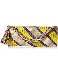 Women's Woven Clutch, Multi, O/S