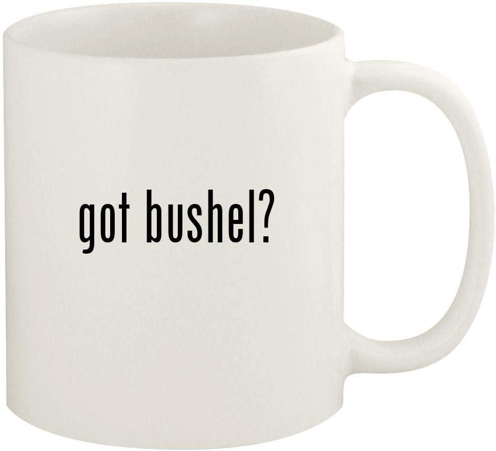 got bushel? - 11oz Ceramic White Coffee Mug Cup, White