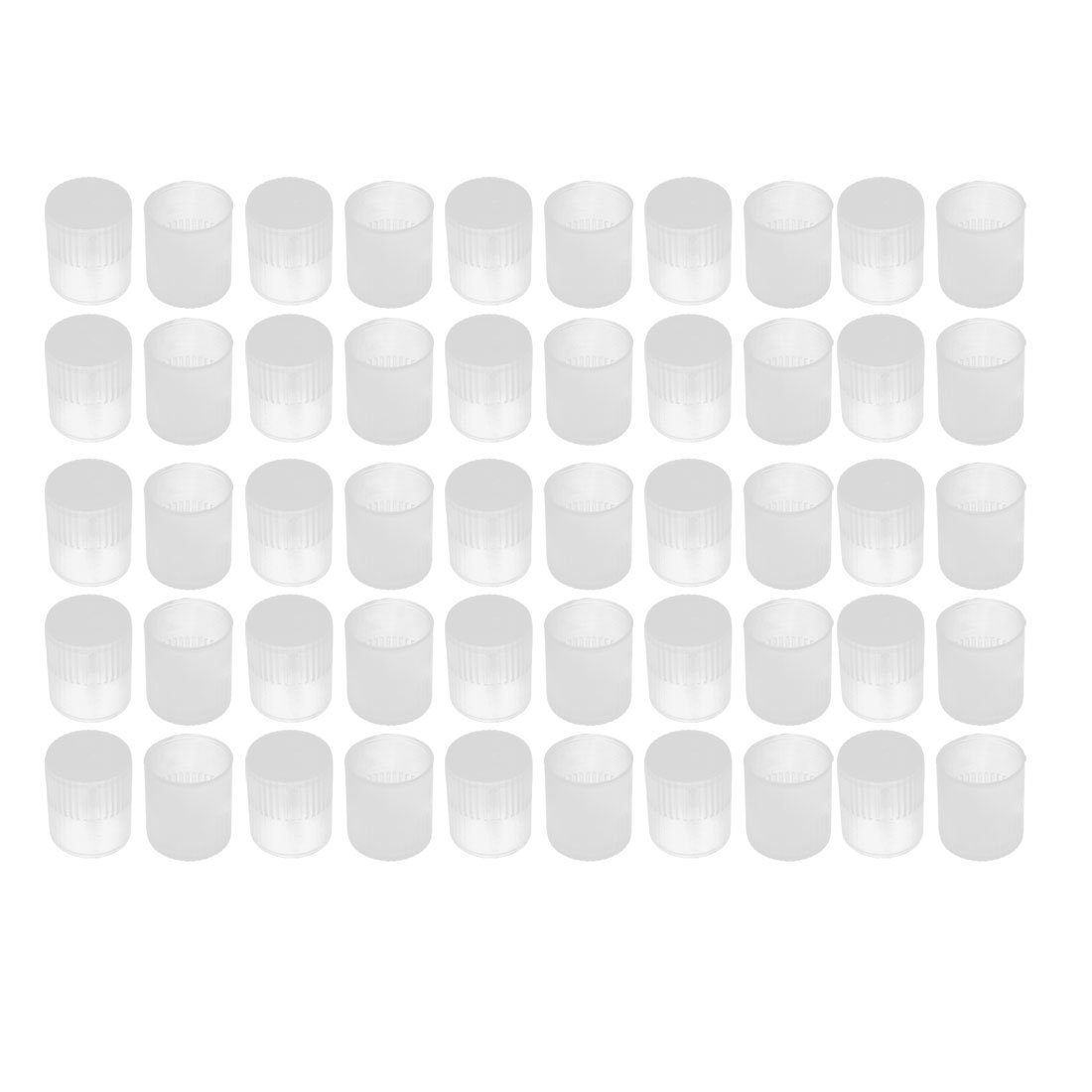 uxcell 50Pcs 12mm Inner Dia PE Plastic End Cap Bolt Thread Protector Tube Cover