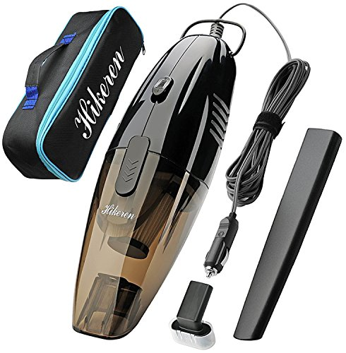 Hikeren Car Vacuum Cleaner,DC 12-Volt Wet&Dry Handheld Vacuum, 16.4FT(5M) Power Cord One Carry Bag
