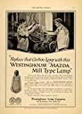 1919 Ad Westinghouse Lamp Co Mazda Mill Type Lamp Bulb - Original Print Ad