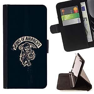 "Jordan Colourful Shop - ""son of anarchy For HTC Desire 820 - < Leather Case Absorci????n cubierta de la caja de alto impacto > -"