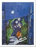 Lovers In The Moonlight by Marc Chagall 12x9.5 Art Print Poster