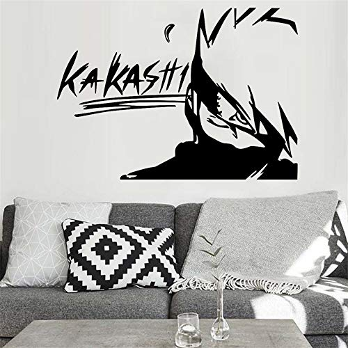 Kitchen Living Room Detachable Anime Cartoon Self-Adhesive Rubber Naruto Creative Kakashi Creative Portable Game Characters Personalized Decoration Anime Decals Wallpaper Stickers Wallpaper Anim