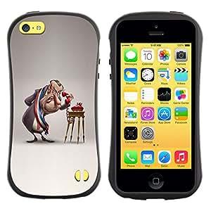 Suave TPU GEL Carcasa Funda Silicona Blando Estuche Caso de protección (para) Apple Iphone 5C / CECELL Phone case / / Parody Comic 3D Figure Art /