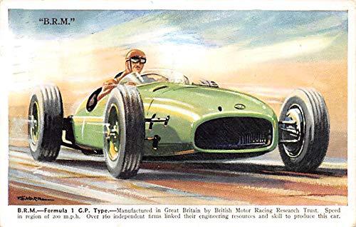 BRM Formula 1 GP Type Automobile Racing, Race Car Postcard -