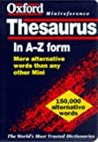 The Oxford Minireference Thesaurus, , 0198600968
