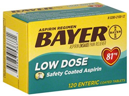 - Bayer spirin Regimen Low Dose 81mg Enteric Coated Tablets 120 ea (Pack of 11)