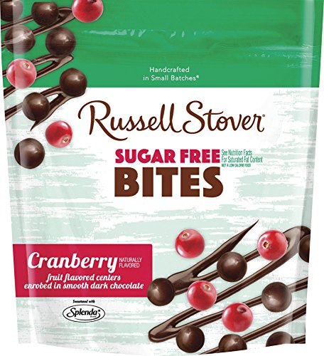 Russell Stover Sugar-Free Dark Choc Bites Resealable Bag, Cranberry, 5 Ounce