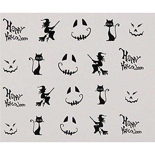 [BORN PRETTY 1 Sheet Stylish Halloween Costume Ghost Pattern Nail Art Water Decals Transfers Sticker] (Super Easy Last Minute Halloween Costumes)