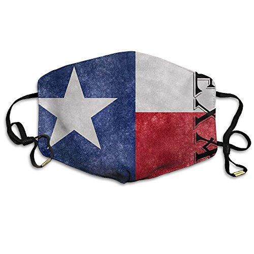 Woman&Mens Unisex Texas Star Comfortable Anti-Pollution Flu Masks Mouth Face Masks -