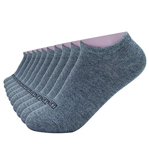 Enerwear Children Boys and Girls Dark Grey Cotton Low Cut Casual Socks Pack of 10(7-8.5, Dark Grey)