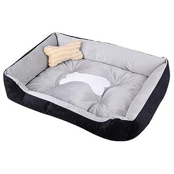 Cama para Mascotas, Cesto Suave Y Lavable De Lujo Cama para Descanso Gatos Perros Pequeños
