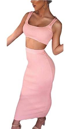 Conjunto de 2 Piezas de Vestido de Vendaje para Mujer Sexy con ...