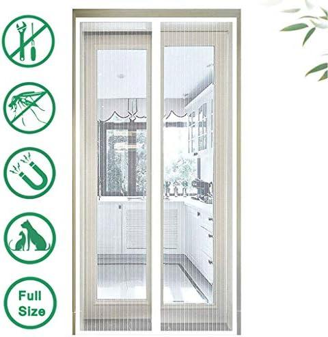 HMHD Mosquitera Magnetica Puerta 90x220cm, Mosquitera Puerta No Requiere PerforacióN Cortina Puerta, para Puertas Correderas, de Patio - Blanco: Amazon.es: Hogar